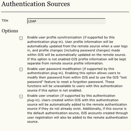 Setting up authentication - PKP Wiki